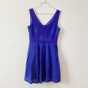 American eagle v neck blue mini dress